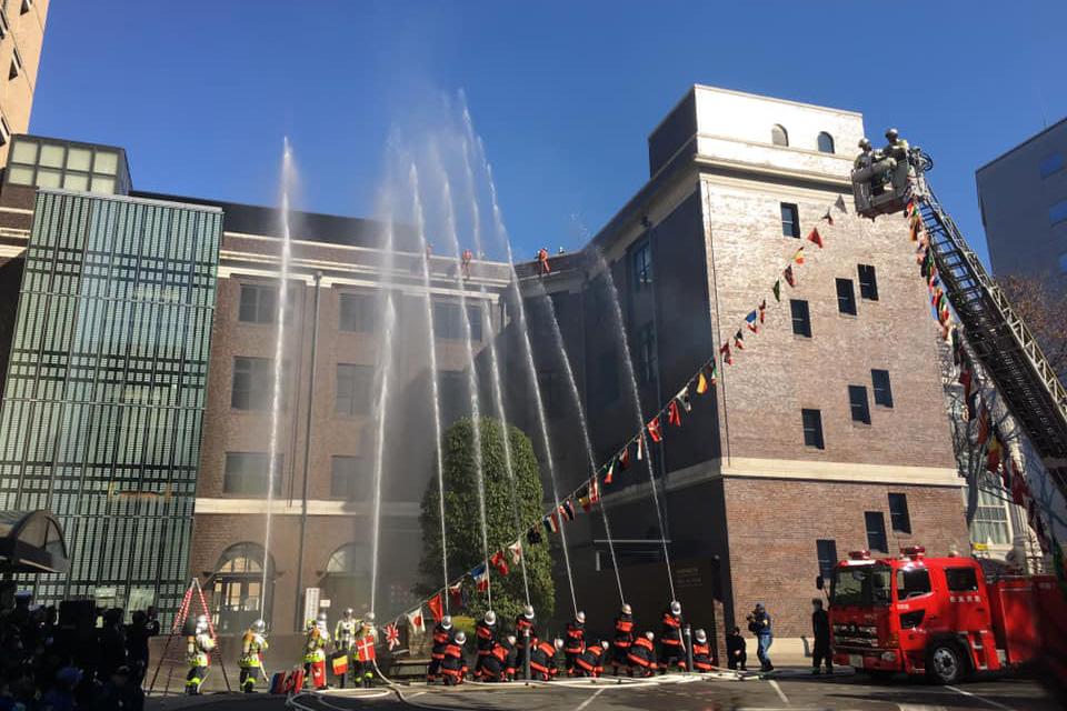 中消防署開設100周年・中区消防出初式