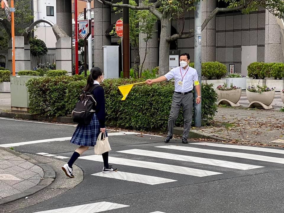 交通安全の見守り活動